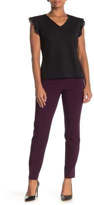 Calvin Klein Mid-Rise Zip Up Pants