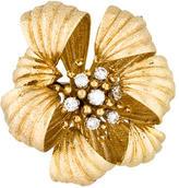 David Webb Diamond Floral Brooch