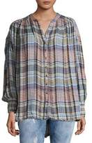 Free People Come On Over Button-Down Top
