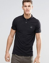 BOSS ORANGE Polo Shirt With Logo In Slim Fit Black