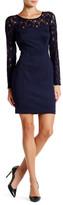 Jessica Simpson Long Sleeve Lace Trim Shift Dress