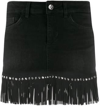 Liu Jo fringed studded skirt