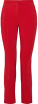 Rosetta Getty Cropped Stretch-cady Skinny Pants - Red