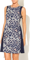Kling Navy Zig Zag Dress