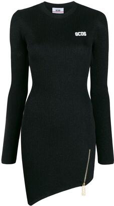 GCDS metallic knit mini dress