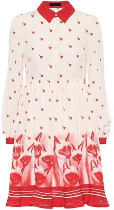 Undercover Printed silk-crepe de chine dress