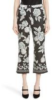 St. John Women's Textured Floral Print Capri Pants