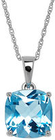 Lord & Taylor Blue Topaz and 14K White Gold Pendant Necklace