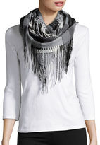 Lord & Taylor Fringed Plaid Infinity Scarf