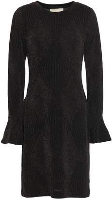 MICHAEL Michael Kors Metallic Jacquard-knit Mini Dress