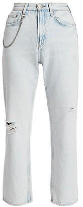 Rag & Bone Ruth Super High-Rise Distressed Straight Jeans