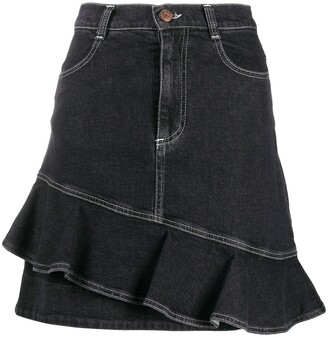 See by Chloe Asymmetric Denim Skirt