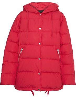 Maje Gaos Quilted Cotton-shell Down Hooded Coat