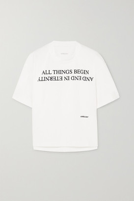 Ambush Printed Cotton-jersey T-shirt - White