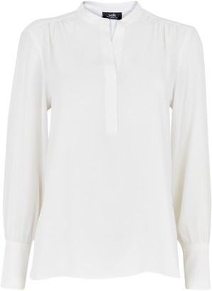Wallis Ivory V-Neck Shirt