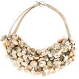 Brunello Cucinelli Agate Beaded Multistrand Necklace
