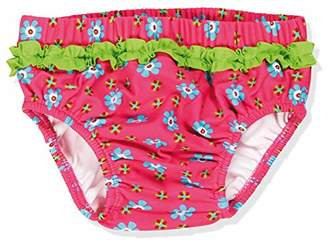 Playshoes Baby Girls' UV-Schutz Windelhose Blumen Swim Nappy,12-18 Months
