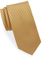 Black Brown 1826 Small Dotted Silk Tie