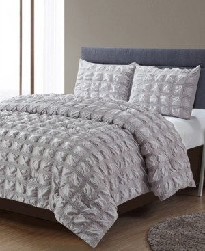 Lily Ny Madison Square Waffle Comforter 3 Piece Comforter Set, King Bedding