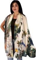 Peach Couture Womens Soft Fashion Artistic Digital Print Long Scarf Wrap Shawl