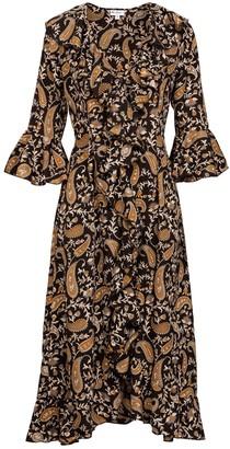Felicity Dress- Black Paisley