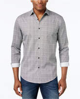 Alfani Men's Texture-Print Classic-Fit Shirt, Only at Macy's