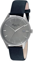 Kenneth Cole New York Men's Black Leather Strap Watch 42mm 10029304