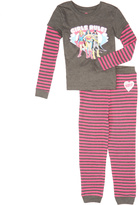 Intimo Pink & Gray 'Girls Rule' Pajama Set - Girls