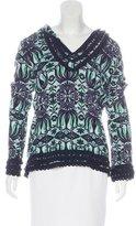 Tory Burch Long Sleeve Hooded Sweatshirt