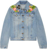 Gucci Appliquéd Denim Jacket - Light denim