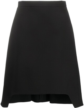 Alexander McQueen Cut-Out Hem Flared Skirt