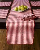 Gingham Boutis Runner, Red