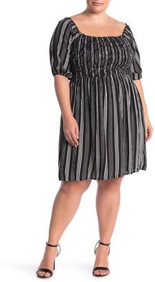 City Chic Stripe Print Play Dress (Plus Size)