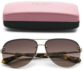 62mm Jakayla Aviator Designer Sunglasses
