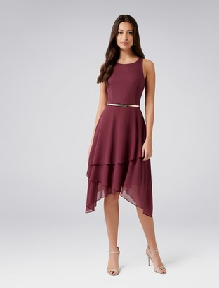 Forever New Lauren 2-in-1 Tiered Maxi - Deep Carmine - 4