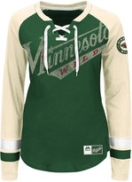 Majestic Women's Minnesota Wild Hip Check Long Sleeve T-Shirt
