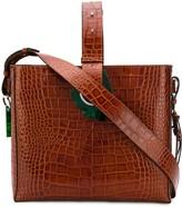 Ganni Crocodile-Effect Tote Bag