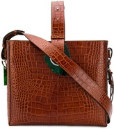 Ganni crocodile-effect tote bag