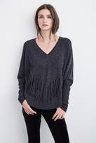 Julietta Fringe Cashmere Dolman Sweater