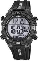 Calypso Men's Digital Watch with LCD Dial Digital Display and Black Plastic Strap K5701/8