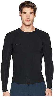 O'Neill Reactor-2 0.5mm Long Sleeve Top (Black/Black/Black) Men's Swimwear