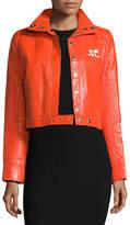 Courreges Short Vinyl Logo Jacket, AC Red