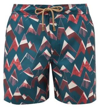 Thorsun Peaks Geometric Print Swim Shorts - Mens - Navy Multi