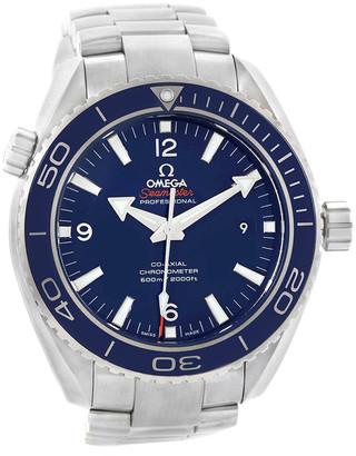 Omega Blue Titanium Seamaster Planet Ocean 232.90.46.21.03.001 Men's Wristwatch 45.5 MM