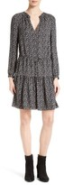 Rebecca Taylor Women's Print Silk Drawstring Waist Dress