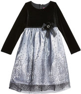 Good Lad Glitter-Mesh Dress, Little Girls (2T-5T)
