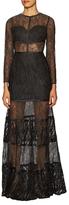 Alexis Joelle Lace Paneled Maxi Dress