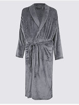 M&S Collection Long Line Fleece Dressing Gown with Belt
