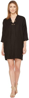 Three Dots Women's Lace-up Cocoon Dress