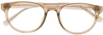 Calvin Klein Jeans Round-Frame Logo Glasses
